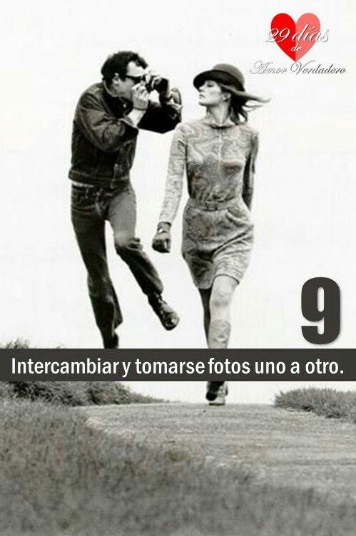 9. Intercambiar y tomarse fotos uno a otro.