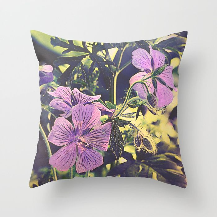 Buy Purple flowers Throw Pillow by maryberg. Worldwide shipping available at Society6.com. Just one of millions of high quality products available.