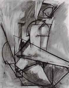 Lee Krasner, Nude Study from Life, 1938, Charcoal on paper, Courtesy of Jason McCoy, Inc., New York, New York