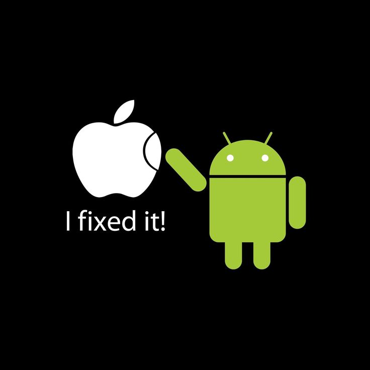 Android Bot Fixes Apple Logo! I Don't Like Android But I Like Apple Better