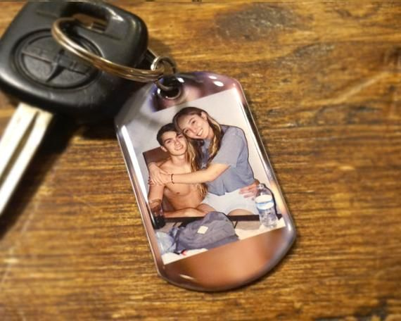Photo keychain, Personalized Keychain Gift For Boyfriend, Anniversary Gift, Key Chain, Gift For Him,
