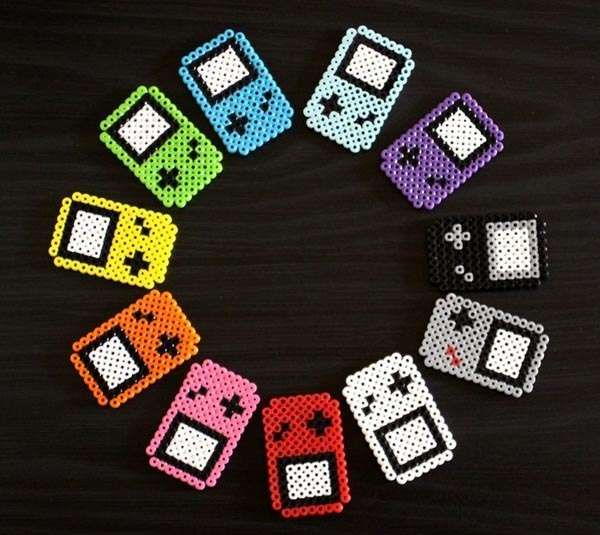 These Perler Bead GameBoy Fridge Accessorizes Showcase a Classic Gadget #design trendhunter.com