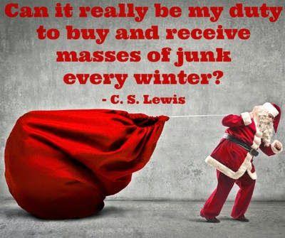 C.S. Lewis, Christmas and consumerism