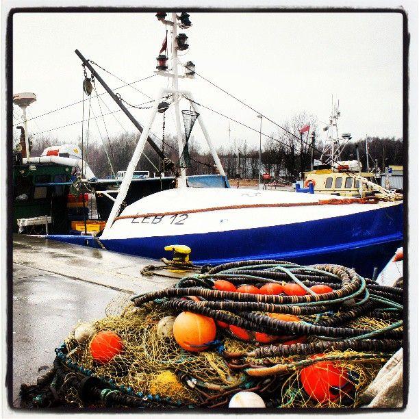 Kutry rybackie w porcie zima, port Łeba, Photo by http://marynistyka.pl