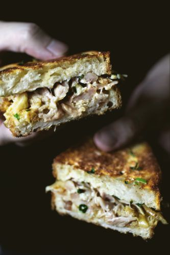 CHICKEN CONFIT GRILLED CHEESE SANDWICH – Lady and Pups – an angry food blog