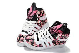 Image result for adidas shoes for girls high tops black and pink