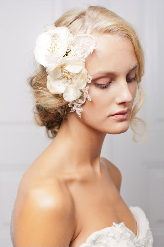 Jannie Baltzer 2013 flower hair piece