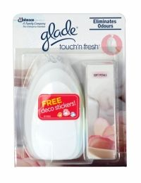 Glade Touch N Fresh Unit Soft Petal Glade Touch'n Fresh delivers a concentrated fragrance in just one touch, that will freshen your home, leaving it smelling fresh for hours. A delicate powdery note as subtle and sensual as the velvety texture of a newly opened flower blosso