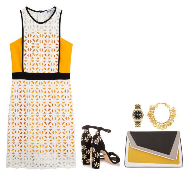 Sans titre #109 by oceanecarrico on Polyvore featuring mode, MSGM, Dolce&Gabbana, âme moi, Chanel and Rolex