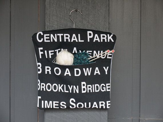 Black and white fabric New York city peg by freshdarling on Etsy