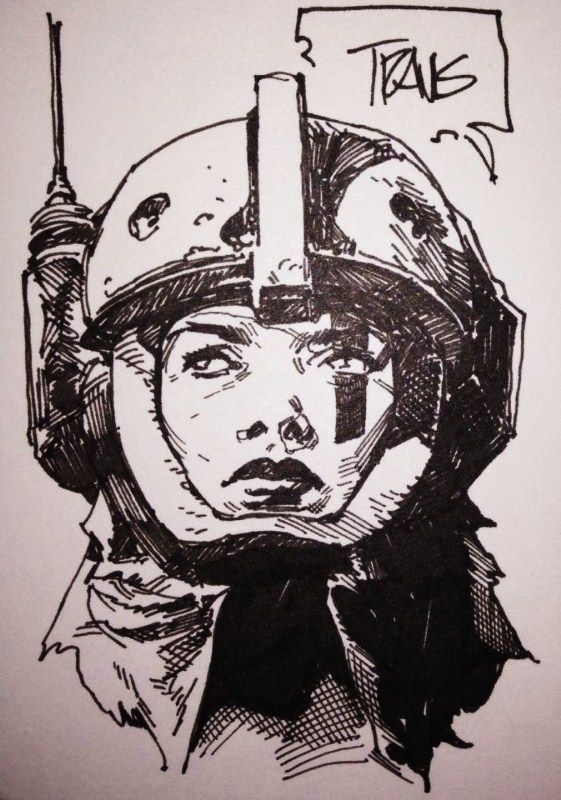 Space Girl by Travis Charest Comic Art