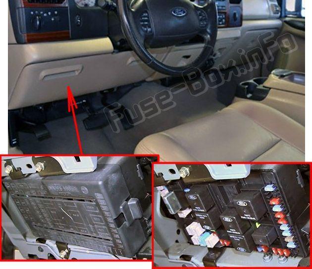 Ford F 250 F 350 F 450 F 550 2005 2007 Fuse Box Location Autos Y Motos Autos Ford