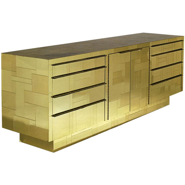 1stdibs | A Paul Evans Gold Cityscape Console, USA, c.1972