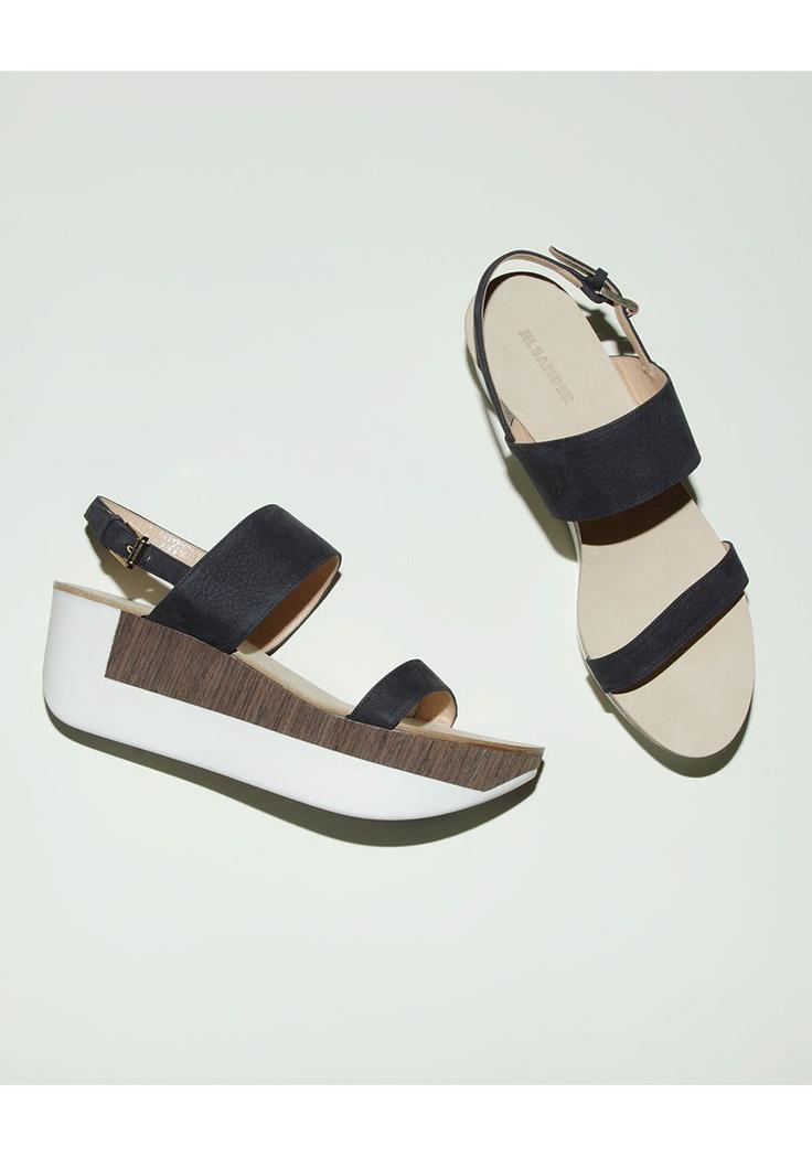 clearance buy Jil Sander Leather Cutout Espadrilles 2014 new sale online sale fashion Style atYzL