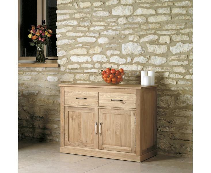 Mobel Solid Oak Small Sideboard 2 Door 2 Drawer