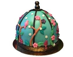 Leuk vogelhuisje taart