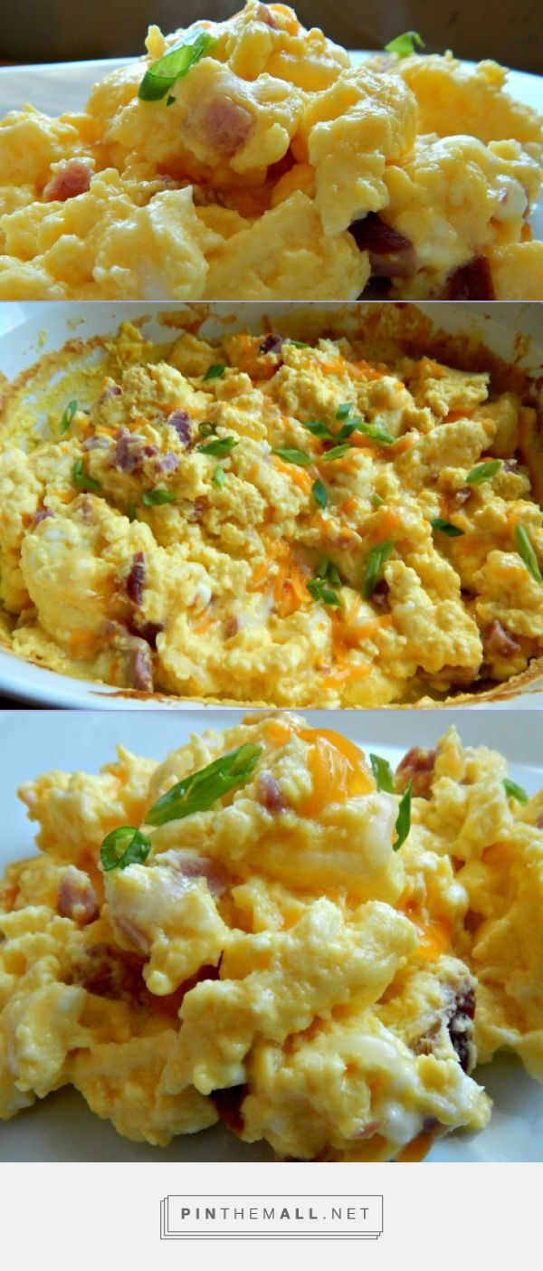 "Oven Baked ""Hotel"" Eggs - When everyone is home for a holiday, you'll need easy breakfast dishes for a crowd! These turn out perfectly fluffy and light! Plus this frees up your stove top for other breakfast sides."