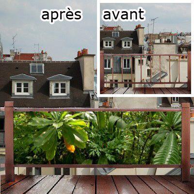 cache vue balcon occulter la vue avec cette toile renforc e d coration du balcon pinterest. Black Bedroom Furniture Sets. Home Design Ideas