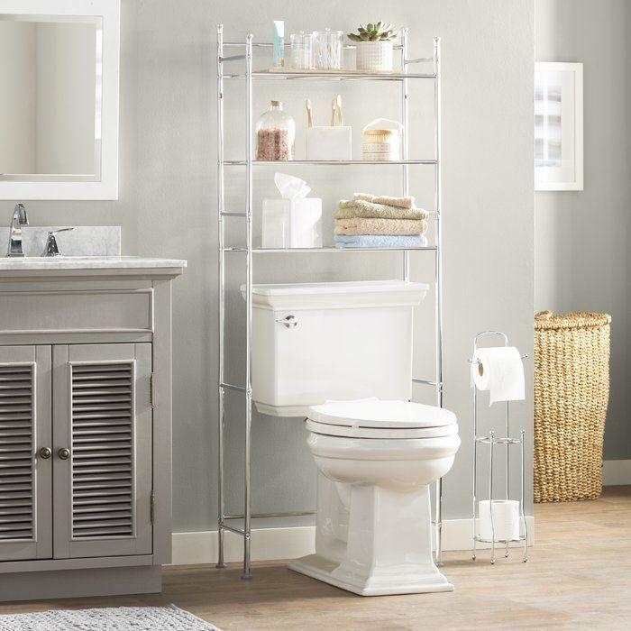 Wayfair Basics 22 83 W X 59 84 H X 9 45 D Over The Toilet Storage 1000 In 2020 Toilet Storage Over Toilet Storage Wall Mounted Bathroom Cabinets