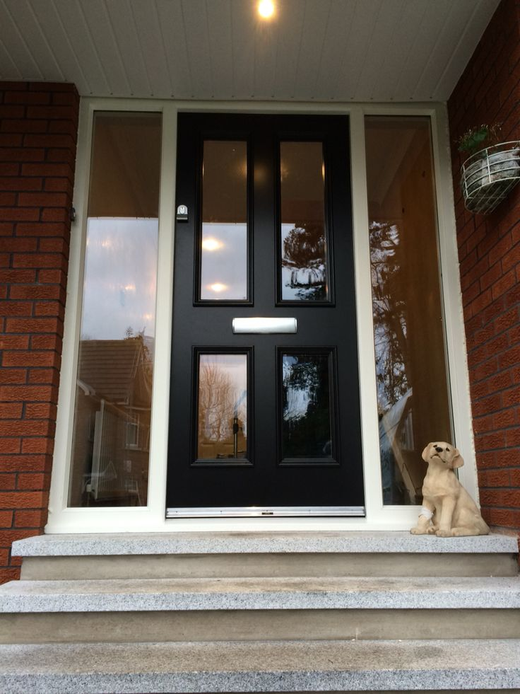 Fully glazed four panel hardwood front door with matching for 10 panel glazed door