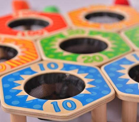 Great indoors or outside the classic bag toss game will give hours of fun. Hand to Eye Coordination Teaches grasping and holding skills which leads to success i