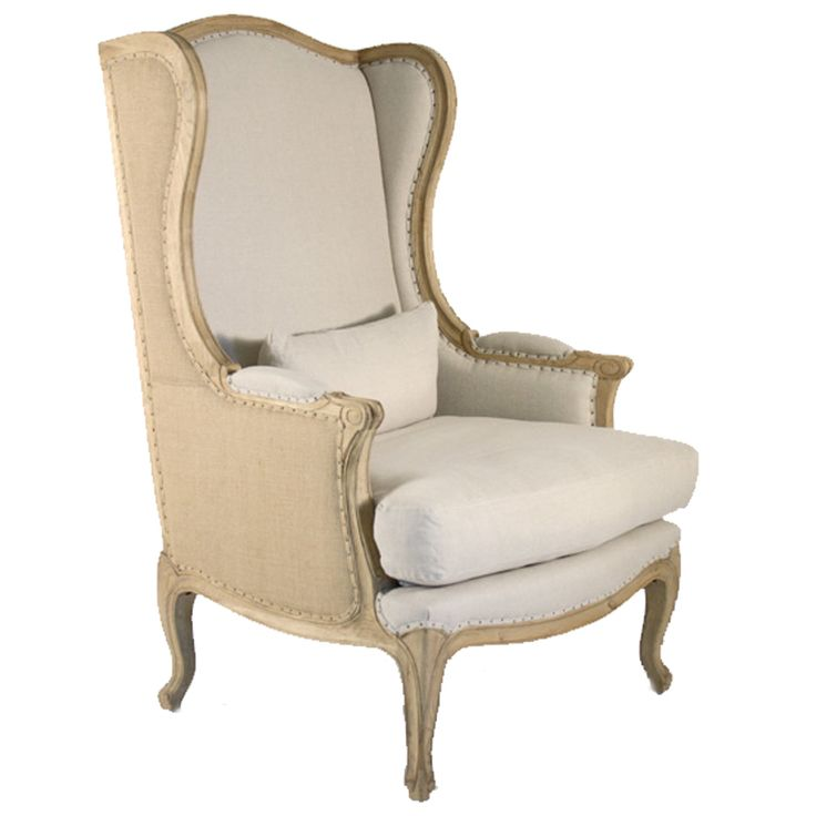 Vintage French Wingback Chair   Belle Maison
