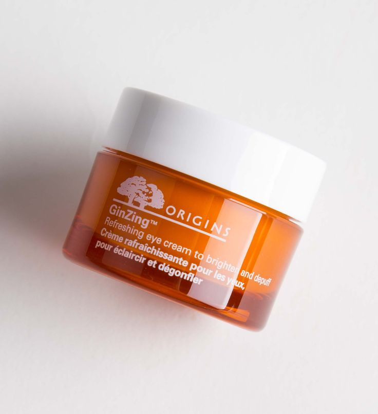 Origins: Ginzing Refreshing Eye Cream. When a good night's sleep either eludes you or simply isn't enough this refreshing eye cream acts like a double shot espresso for the eyes. Look alive with this fast-absorbing cream which brightens and de-puffs to downplay the appearance of dark circles and bags.