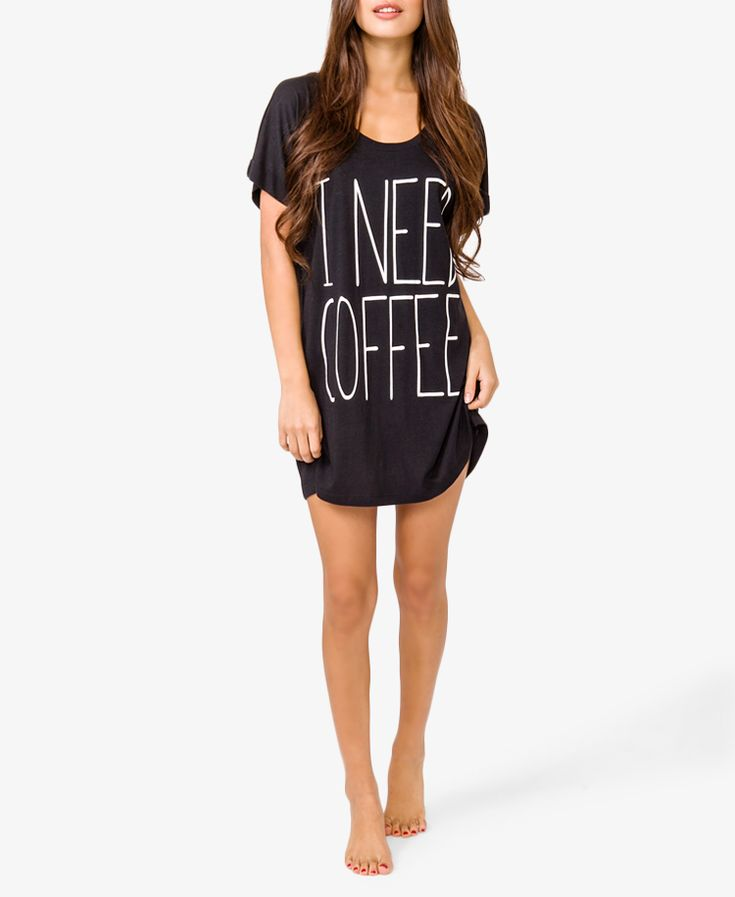 Love this! Just went to order, but it is sold out. :( Morning Coffee Nightdress | FOREVER21