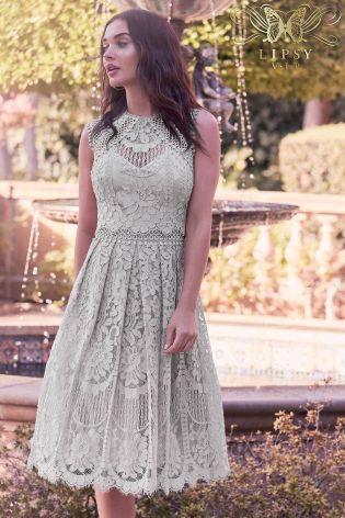 e2246b93 Silver Lipsy VIP Embroidered Lace Prom Dress | Style & Fashion ...