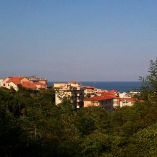 Uitzicht vanaf ons terras, Sole Mare, Ceriale