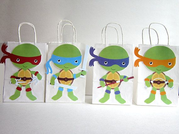 Ninja Turtles Cupcake Toppers by CraftyCue on Etsy