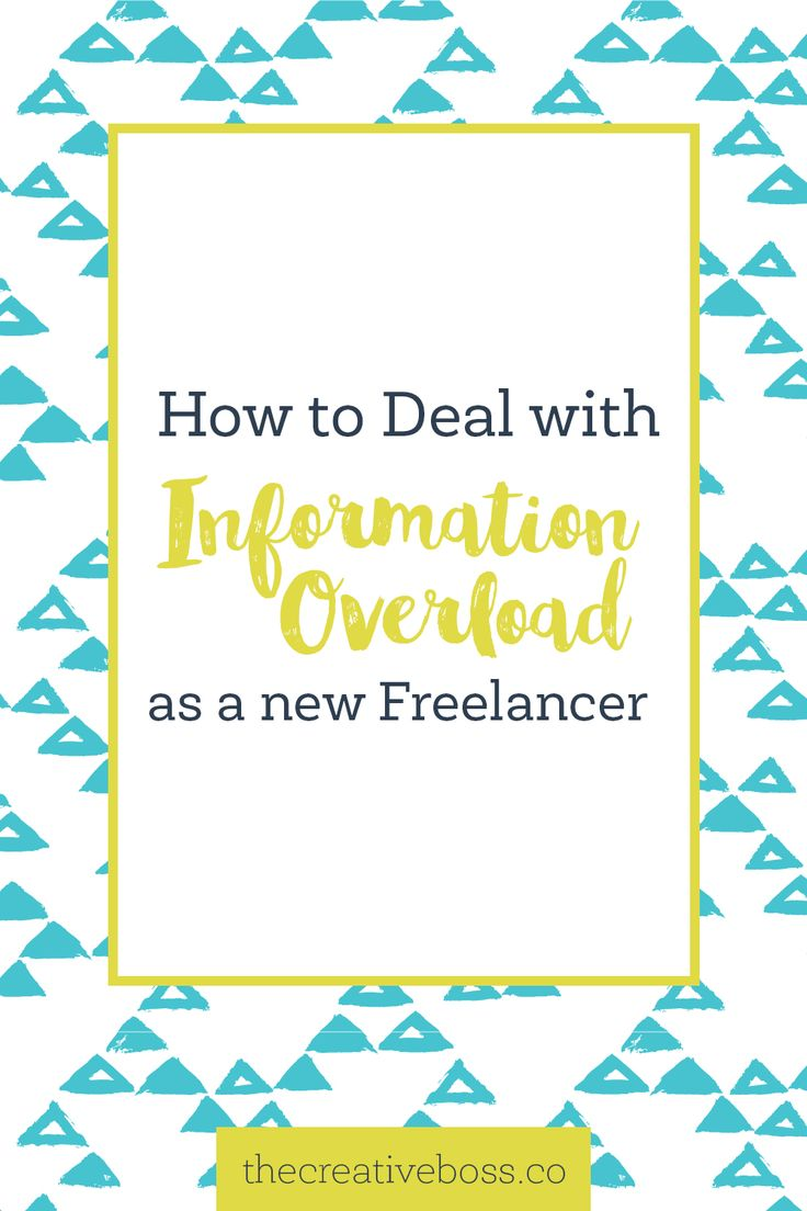 Wondering how to deal with #allthethings being a new freelancer? The information overload doesn't need to derail you from your goals.
