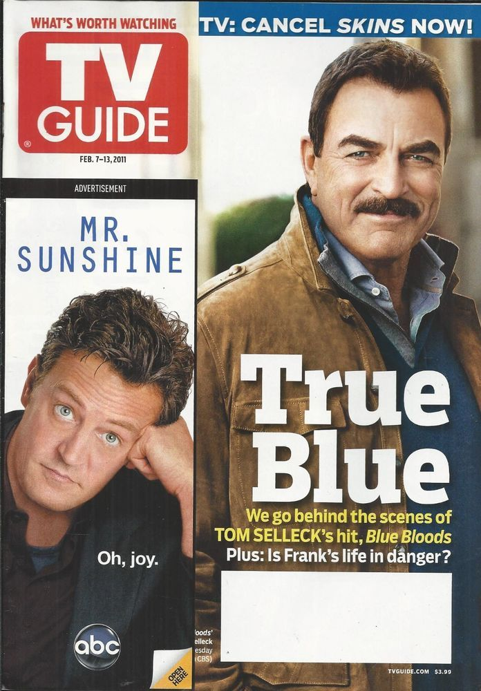 TV Guide magazine Tom Selleck Blue Bloods Regis and Kelly Glee The Golden Globes