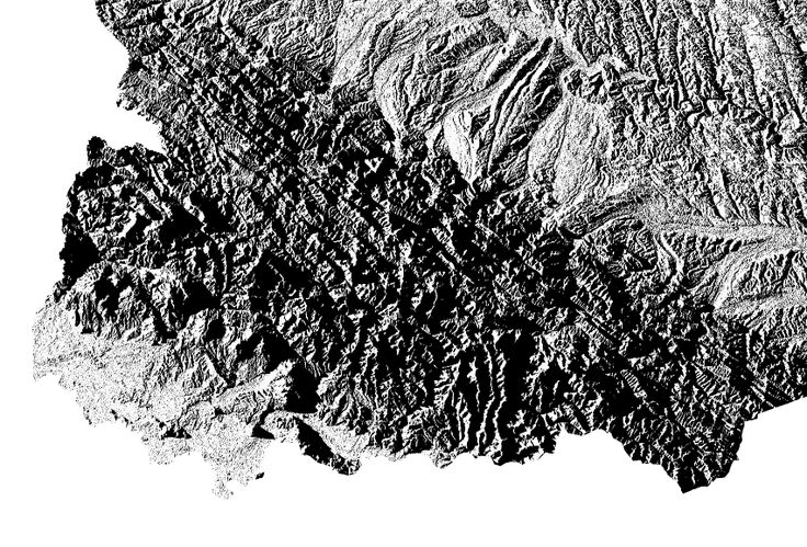 Northeast Carpathians|hillshade map  | poster | high resolution digital map | Ukraine | Україна |hillshade | printable map