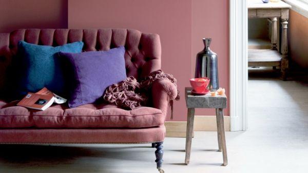 altrosa wandfarbe verleiht dem ambiente z rtlichkeit leben u wohnen pinterest. Black Bedroom Furniture Sets. Home Design Ideas