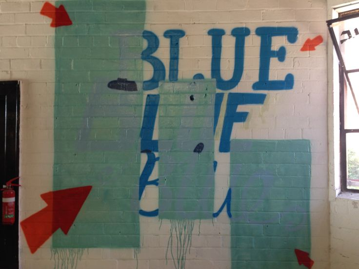 Abstract 'Blue' artwork found in Music Farmers on Crown Lane, Wollongong