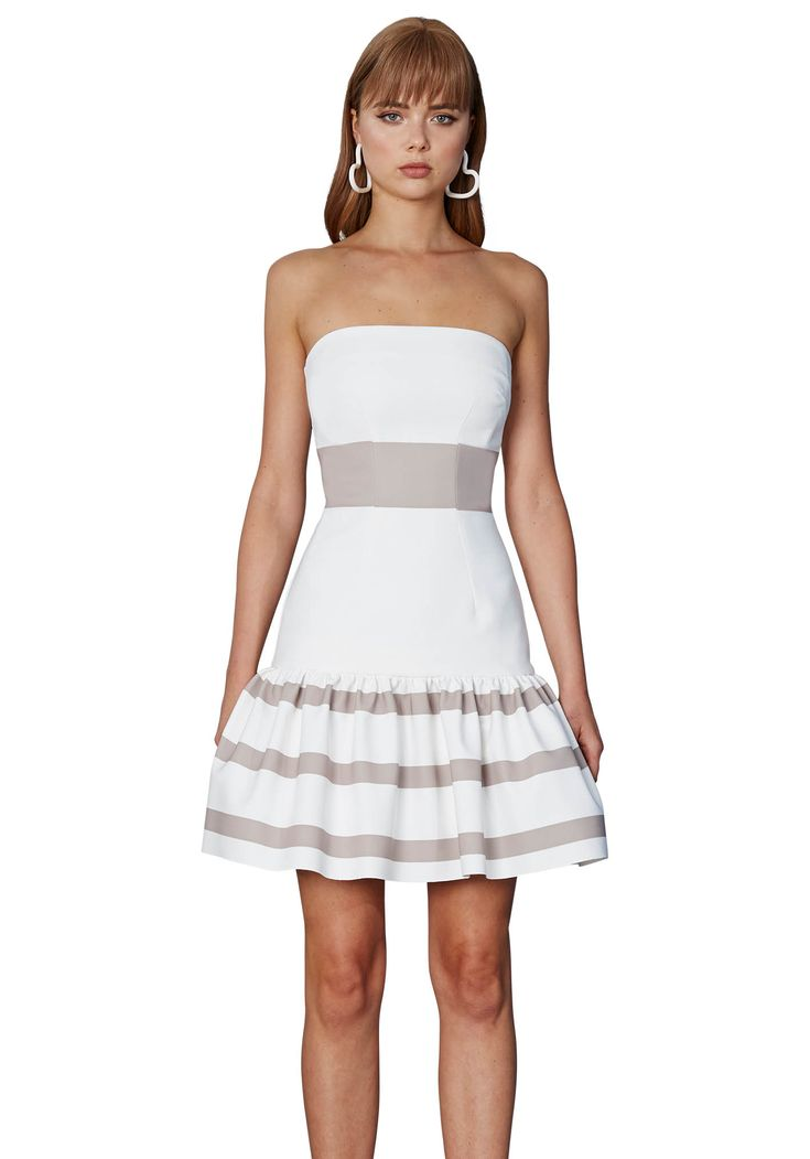 BY JOHNNY. Lulu Stripe Strapless Dress | Contemporary Australian Womenswear