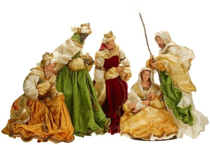 Mark Roberts Nativities | Large Heavenly Nativity Set of 4