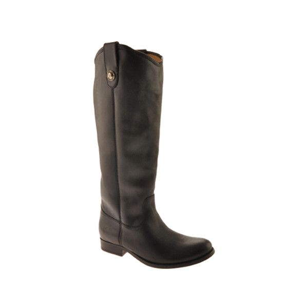 Women's Frye Melissa Button ($280) ❤ liked on Polyvore featuring shoes, boots, black, casual, riding boots, motorcycle riding boots, motorcycle boots, leather riding boots, black knee high boots and black leather boots