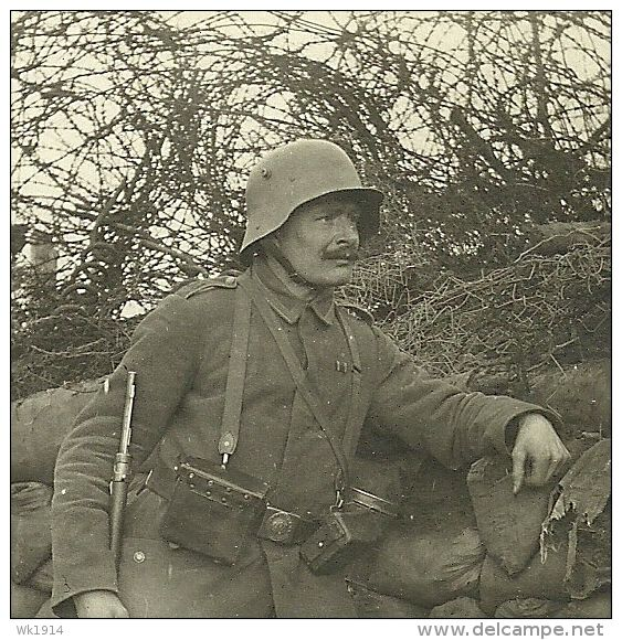 WWI, German soldier in Flanders. -delcampe
