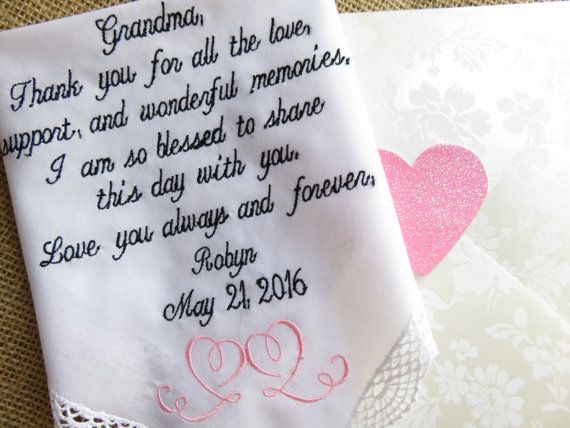 Grandmother of the Bride-Wedding by elegantmonogramming on Etsy