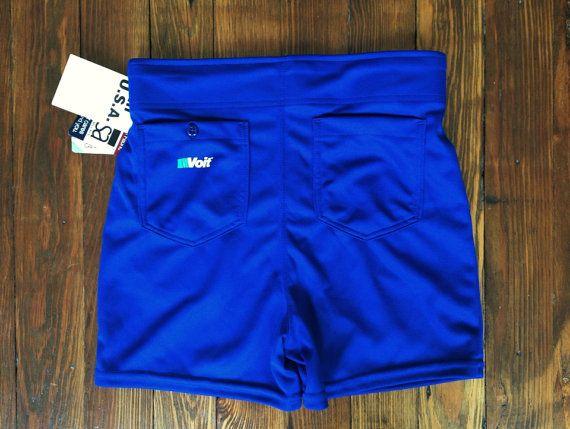 Old School Coaching Athletic Shorts Voit Blue On Etsy