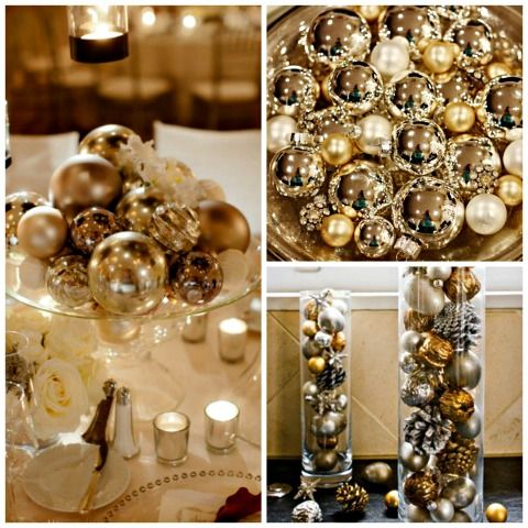 Holiday Inspired Centerpieces on itsabrideslife.com / Wedding Centerpieces / Christmas Wedding / Holiday Wedding / New Years Eve Wedding