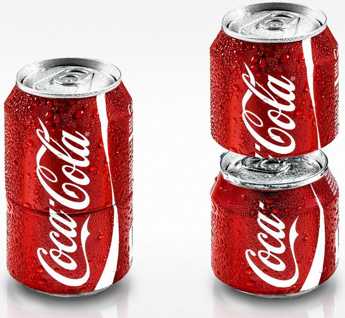 """This special Cola-Cola can split into two to encourage sharing!"" #cool"