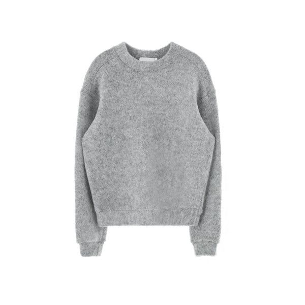 Thick Plain Sweatshirt (2,340 INR) ❤ liked on Polyvore featuring tops, hoodies, sweatshirts, sweaters, shirts, jumpers, thick sweatshirt and shirt tops