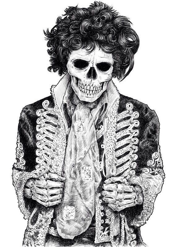 Un peu macabre... 10c8a48ea3cfb7fe2c3cede135713699--jimi-hendrix-skull-art