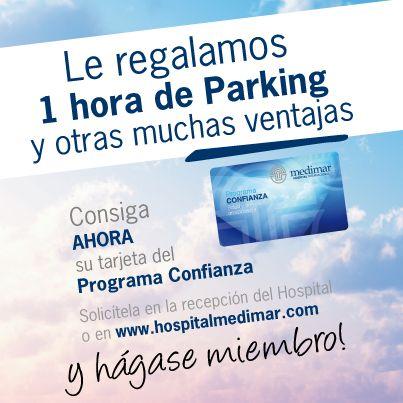 1 hora gratis de Parking entre otras ventajas.