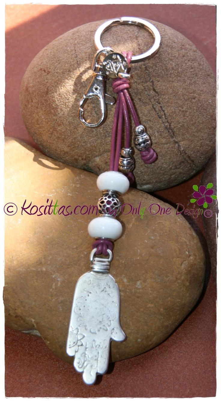 Llavero amuleto, mano de Fátima.