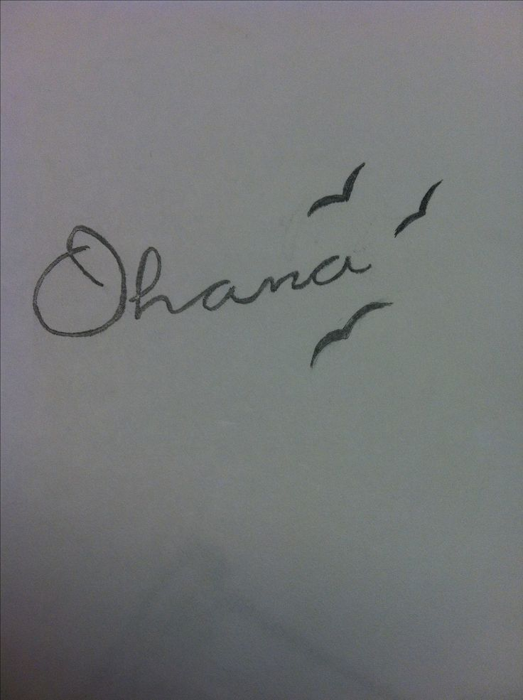 "Tattoo idea!! ""Ohana means family, and family means nobody gets left behind, or forgotten"" & 3 birds to represent my 2 sisters and I!"