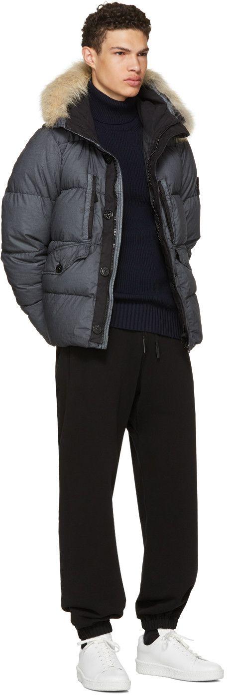 Stone Island - Grey Down Puffer Jacket